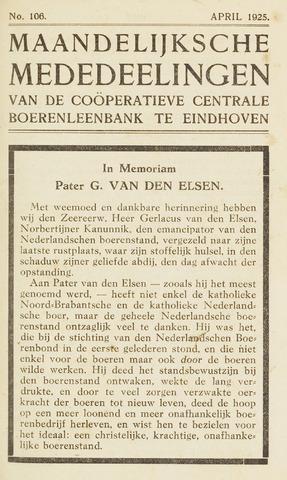 blad 'Maandelijkse Mededelingen' (CCB) 1925-04-01