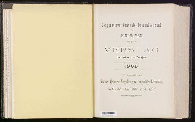 Jaarverslagen Coöperatieve Centrale Boerenleenbank 1905-12-31