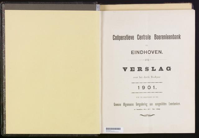 Jaarverslagen Coöperatieve Centrale Boerenleenbank 1901