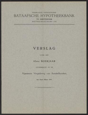 Jaarverslagen Bataafsche Hypotheekbank 1931