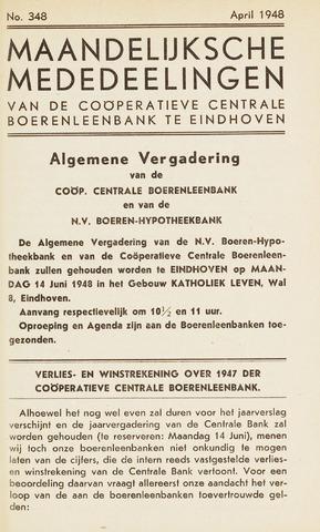 blad 'Maandelijkse Mededelingen' (CCB) 1948-04-01