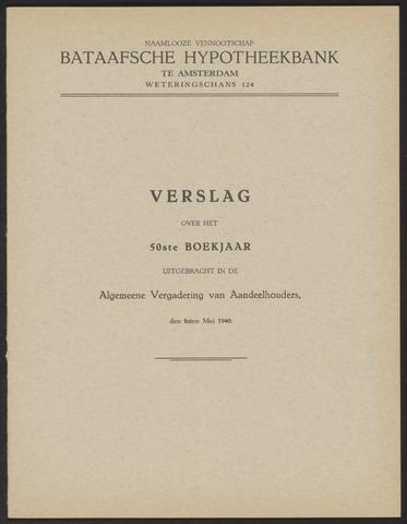 Jaarverslagen Bataafsche Hypotheekbank 1939