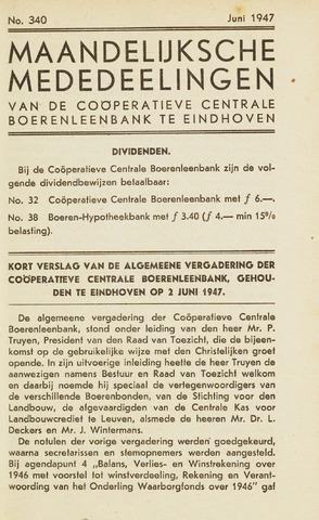 blad 'Maandelijkse Mededelingen' (CCB) 1947-06-01
