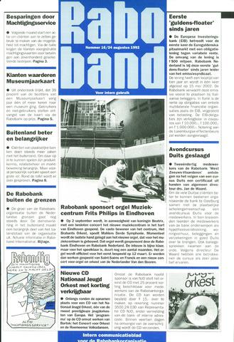 blad 'Raboband' 1992-08-24