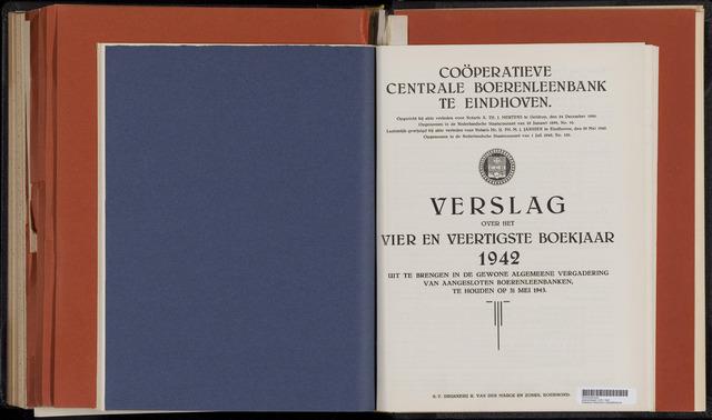Jaarverslagen Coöperatieve Centrale Boerenleenbank 1942-12-31