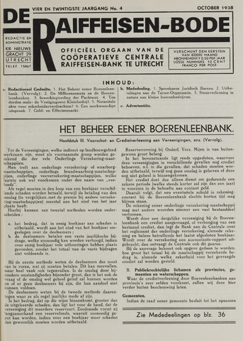blad 'De Raiffeisen-bode' (CCRB) 1938-10-01