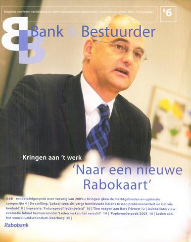 blad 'Bank & Bestuurder' 2003-11-01