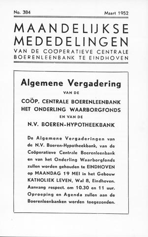 blad 'Maandelijkse Mededelingen' (CCB) 1952-03-01