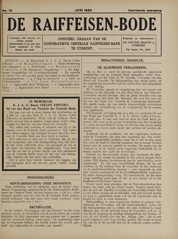 blad 'De Raiffeisen-bode' (CCRB) 1929-06-01