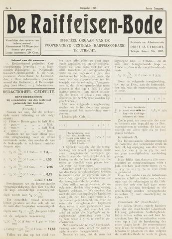 blad 'De Raiffeisen-bode' (CCRB) 1915-12-01