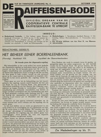 blad 'De Raiffeisen-bode' (CCRB) 1939-10-01