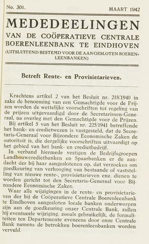 blad 'Maandelijkse Mededelingen' (CCB) 1942-03-01