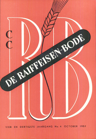 blad 'De Raiffeisen-bode' (CCRB) 1951-10-01
