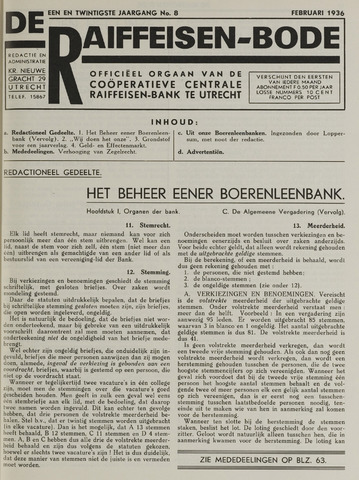 blad 'De Raiffeisen-bode' (CCRB) 1936-02-01
