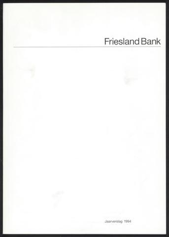 Jaarverslagen Friesland Bank 1994