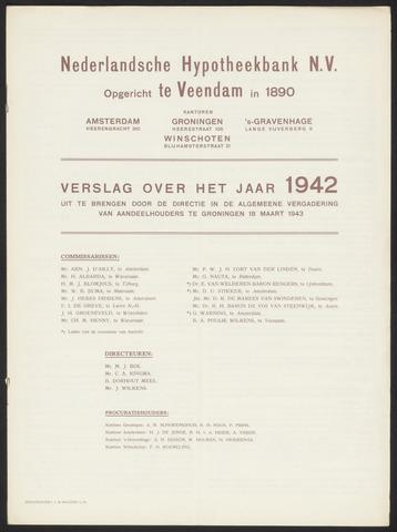 Jaarverslagen Nederlandsche Hypotheekbank 1942
