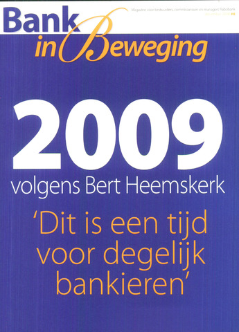 blad 'Bank in Beweging' 2008-12-01