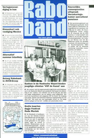 blad 'Raboband' 1992-07-27