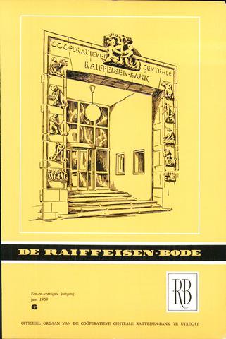 blad 'De Raiffeisen-bode' (CCRB) 1959-06-01