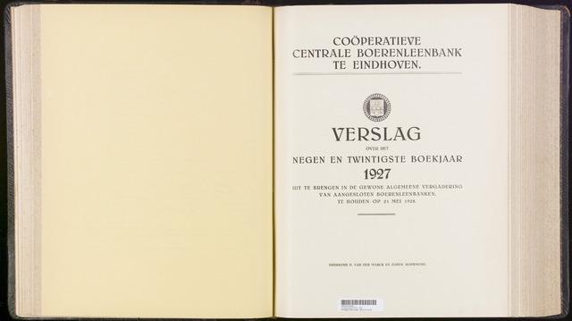 Jaarverslagen Coöperatieve Centrale Boerenleenbank 1927-12-31