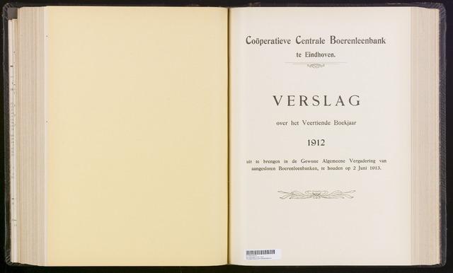 Jaarverslagen Coöperatieve Centrale Boerenleenbank 1912