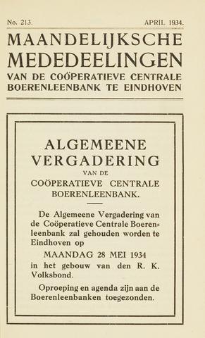 blad 'Maandelijkse Mededelingen' (CCB) 1934-04-01