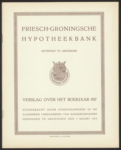 Jaarverslagen Friesch-Groningsche Hypotheekbank / FGH Bank 1917