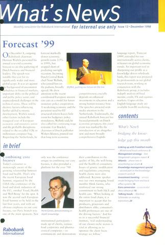 blad 'What's news' (EN) 1998-12-01