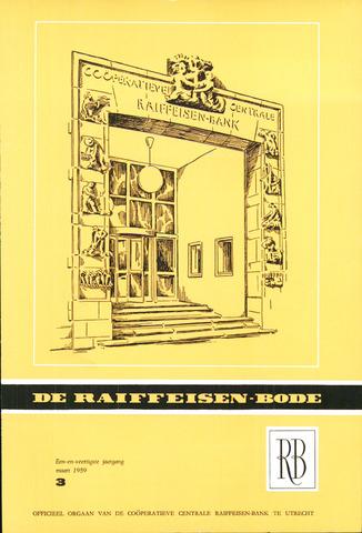blad 'De Raiffeisen-bode' (CCRB) 1959-03-01