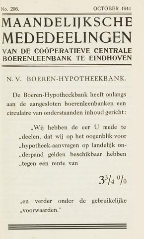 blad 'Maandelijkse Mededelingen' (CCB) 1941-10-01