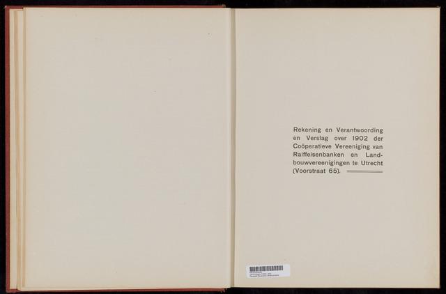 Jaarverslagen Coöperatieve Centrale Raiffeisen-Bank 1902-12-31