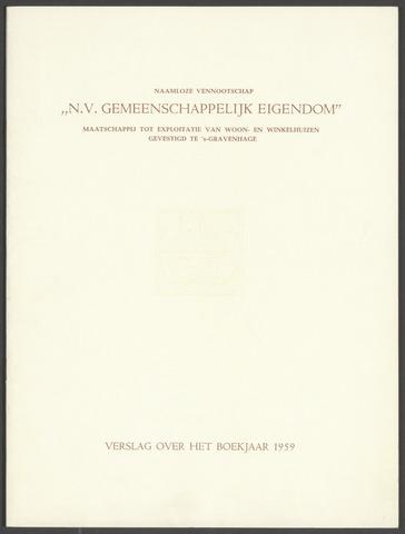 Jaarverslagen Gemeenschappelijk Eigendom 1959