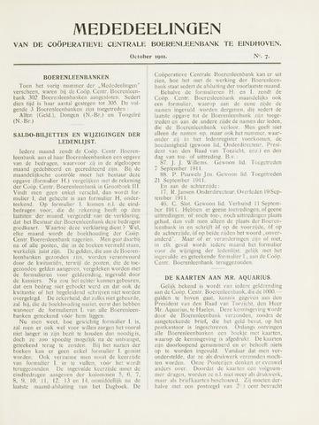 blad 'Mededeelingen' (CCB) 1911-10-01
