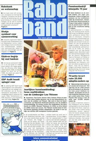 blad 'Raboband' 1993-11-01