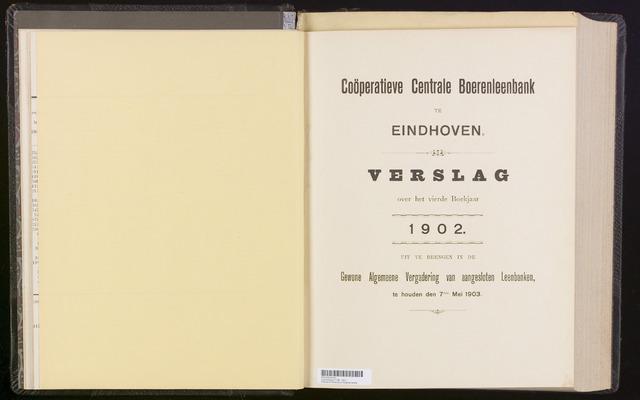Jaarverslagen Coöperatieve Centrale Boerenleenbank 1902-12-31