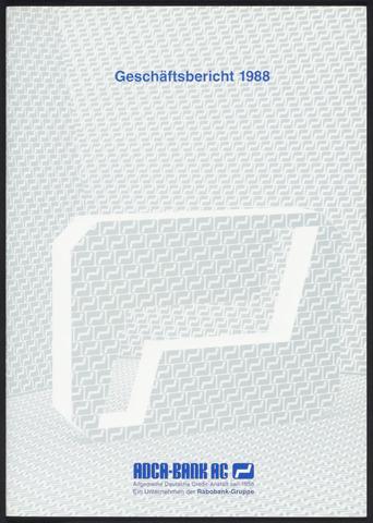 Geschäftsberichte Allgemeine Deutsche Credit-Anstalt / ADCA Bank 1988-01-01