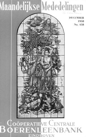 blad 'Maandelijkse Mededelingen' (CCB) 1958-12-01