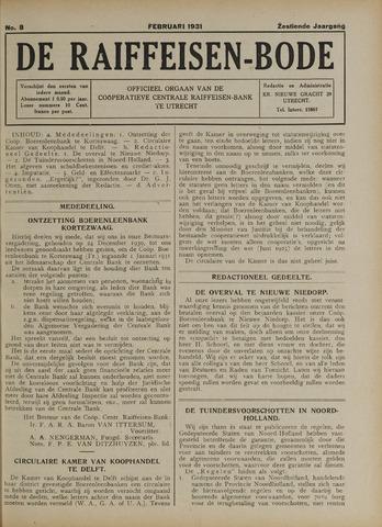 blad 'De Raiffeisen-bode' (CCRB) 1931-02-01