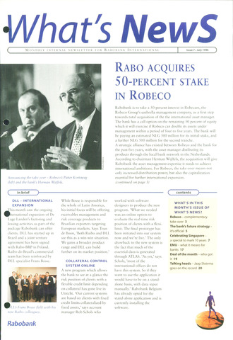 blad 'What's news' (EN) 1996-07-01