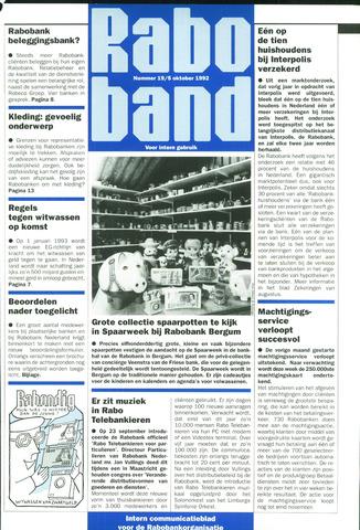blad 'Raboband' 1992-10-05