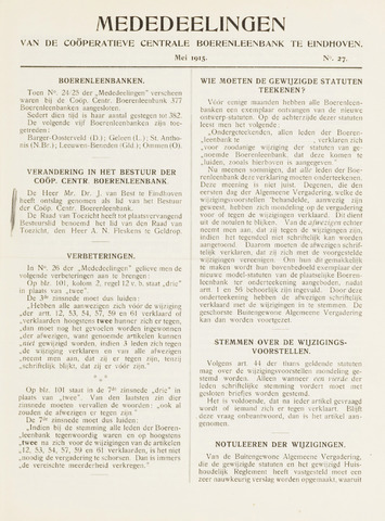 blad 'Mededeelingen' (CCB) 1915-05-01