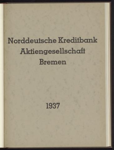Geschäftsberichte Norddeutsche Kreditbank 1937-01-01