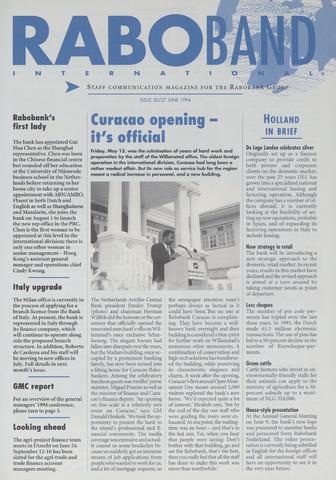 blad 'Raboband International' (EN) 1994-06-27