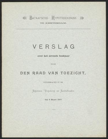 Jaarverslagen Bataafsche Hypotheekbank 1896