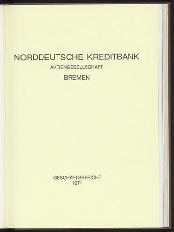 Geschäftsberichte Norddeutsche Kreditbank 1971-01-01