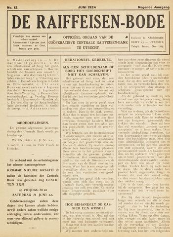 blad 'De Raiffeisen-bode' (CCRB) 1924-06-01