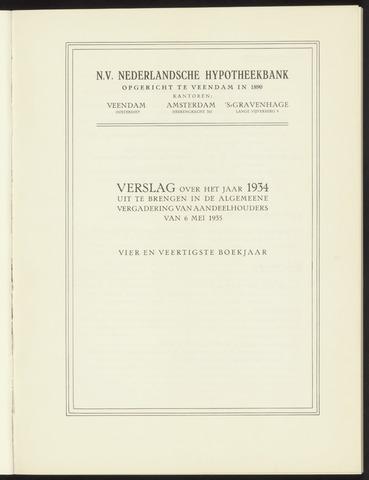Jaarverslagen Nederlandsche Hypotheekbank 1934