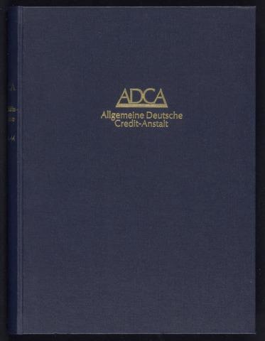 Geschäftsberichte Allgemeine Deutsche Credit-Anstalt / ADCA Bank 1924-01-01