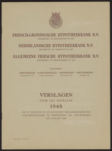 Jaarverslagen Friesch-Groningsche Hypotheekbank / FGH Bank 1948