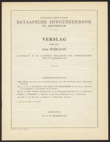 Jaarverslagen Bataafsche Hypotheekbank 1945